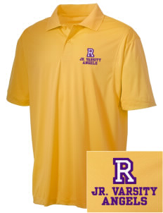 Robison Middle School Angels Embroidered Men's Micro Pique Polo
