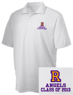 Robison Middle School Angels Embroidered Men's Double Mesh Polo