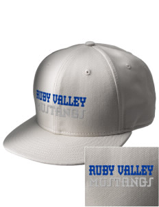 Ruby Valley Elementary School Mustangs  Embroidered New Era Flat Bill Snapback Cap