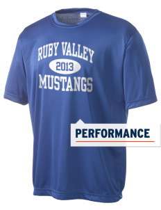 Ruby Valley Elementary School Mustangs Men's Competitor Performance T-Shirt