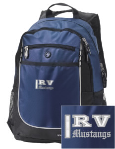 Ruby Valley Elementary School Mustangs Embroidered OGIO Carbon Backpack