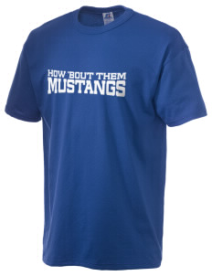 Ruby Valley Elementary School Mustangs  Russell Men's NuBlend T-Shirt