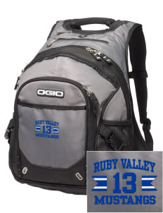 Ruby Valley Elementary School Mustangs Embroidered OGIO Fugitive Backpack