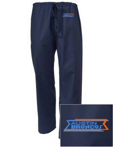 Austin High School Broncos Embroidered Scrub Pants