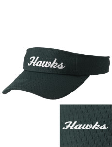 Hug High School Hawks Embroidered Woven Cotton Visor