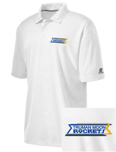 Truman Moon Elementary School Rockets Embroidered Russell Coaches Core Polo Shirt
