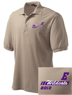 Egbert Wildcats Embroidered Men's Silk Touch Polo