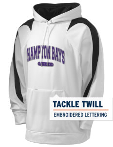 Hampton Bays Secondary School Baymen Holloway Men's Sports Fleece Hooded Sweatshirt with Tackle Twill