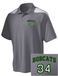 Jenkins Elementary School Bobcats Embroidered Holloway Men's Frequency Performance Pique Polo