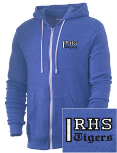 Ragsdale High School Tigers Embroidered Alternative Men's Rocky Zip Hooded Sweatshirt