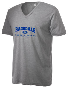 Ragsdale High School Tigers Alternative Men's 3.7 oz Basic V-Neck T-Shirt