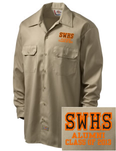 Southwest High School Stallions Embroidered Dickies Men's Long-Sleeve Workshirt