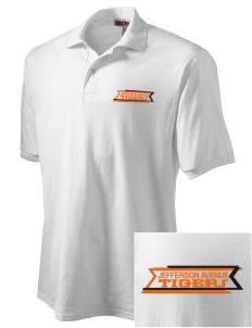 Jefferson Avenue Elementary School Tigers Embroidered Men's Jersey Polo
