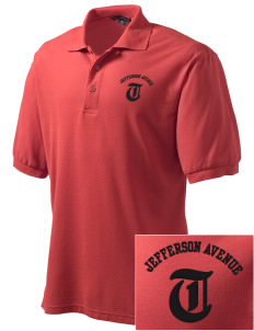 Jefferson Avenue Elementary School Tigers Embroidered Men's Silk Touch Polo