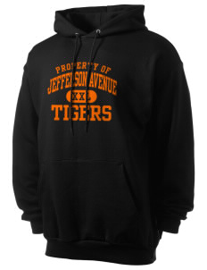 Jefferson Avenue Elementary School Tigers Men's 7.8 oz Lightweight Hooded Sweatshirt