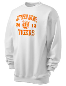 Jefferson Avenue Elementary School Tigers Men's 7.8 oz Lightweight Crewneck Sweatshirt