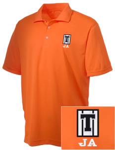 Jefferson Avenue Elementary School Tigers Embroidered Men's Double Mesh Polo