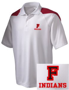 Fairfield High School Indians Embroidered Holloway Men's Frequency Performance Pique Polo