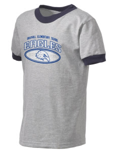 Grayhill Elementary School Eagles Kid's Ringer T-Shirt
