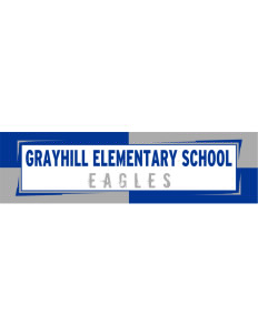 "Grayhill Elementary School Eagles Bumper Sticker 11"" x 3"""