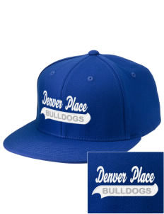 Denver Place Elementary School Bulldogs Embroidered Diamond Series Fitted Cap