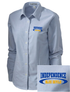 Independence Middle School Blue Devils Embroidered Women's Classic Oxford