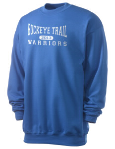 Buckeye Trail High School Warriors Men's 7.8 oz Lightweight Crewneck Sweatshirt