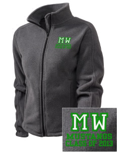 Mount Washington Elementary School Mustangs Embroidered Women's Fleece Full-Zip Jacket