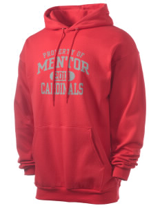 Mentor High School Cardinals Men's 7.8 oz Lightweight Hooded Sweatshirt
