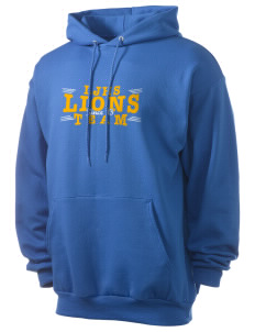 Leverette Junior High School Lions Men's 7.8 oz Lightweight Hooded Sweatshirt