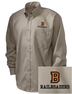 Bradford High School Railroaders  Embroidered Men's Nailhead Non-Iron Button-Down