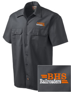 Bradford High School Railroaders Embroidered Dickies Men's Short-Sleeve Workshirt