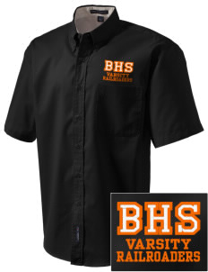 Bradford High School Railroaders Embroidered Men's Easy Care Shirt