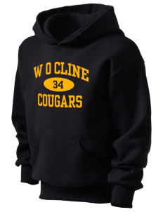 W O Cline Elementary School Cougars Kid's Hooded Sweatshirt