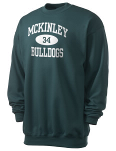McKinley Elementary School Bulldogs Men's 7.8 oz Lightweight Crewneck Sweatshirt