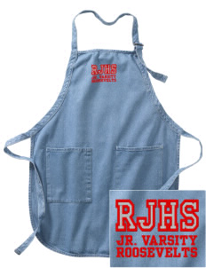 Roosevelt Junior High School Roosevelts Embroidered Full-Length Apron with Pockets