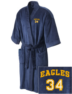 Wilson Elementary School Eagles Embroidered Terry Velour Robe