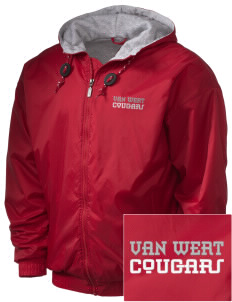 Van Wert High School Cougars Embroidered Holloway Men's Hooded Jacket