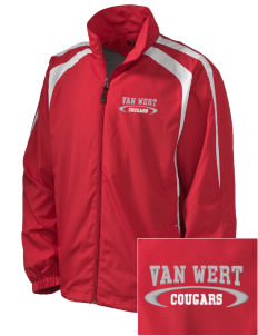 Van Wert High School Cougars Embroidered Men's Colorblock Raglan Jacket