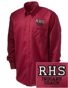 Rittman High School Indians  Embroidered Men's Nailhead Non-Iron Button-Down