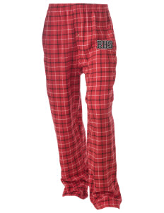 Rittman High School Indians Unisex Button-Fly Collegiate Flannel Pant with Distressed Applique