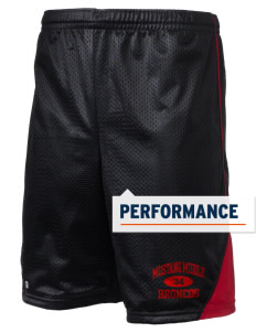 "Mustang Middle School Broncos Holloway Men's Possession Performance Shorts, 9"" Inseam"