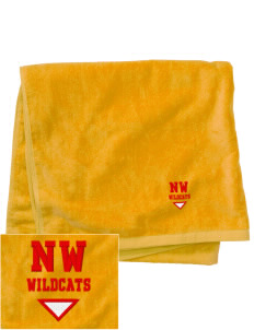 Northwest 6th Grade Center Wildcats Embroidered Beach Towel