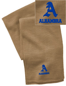 Alhambra Adult School Alhambra  Embroidered Knitted Scarf
