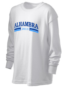Alhambra Adult School Alhambra Kid's 6.1 oz Long Sleeve Ultra Cotton T-Shirt