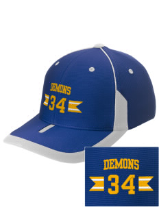 Dibble Senior High School Demons Embroidered M2 Universal Fitted Contrast Cap