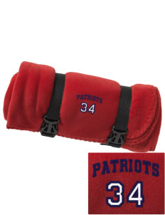 Oxford Academy Patriots Embroidered Fleece Blanket with Strap