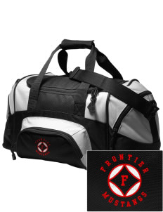 Frontier School Mustangs Embroidered Small Colorblock Duffel