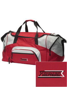 Frontier School Mustangs Embroidered Colorblock Duffel Bag