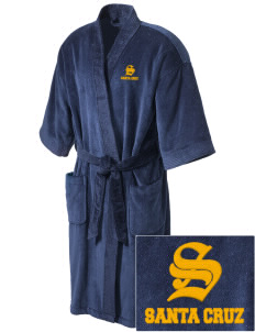 Tierra Pacifica Charter School Santa Cruz Embroidered Terry Velour Robe
